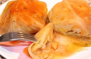 Голубцы с картошкой (пошаговый фото рецепт)