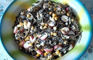 Салат из морской капусты с крабовыми палочками и кукурузой (пошаговый фото рецепт)