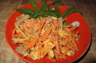 """Салат с морковью по-корейски и яйцом """"Антикризисный"""" (пошаговый фото рецепт)"""