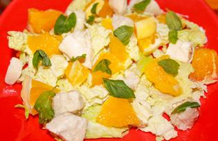 Витаминный салат с апельсинами и мятой (пошаговый фото рецепт)