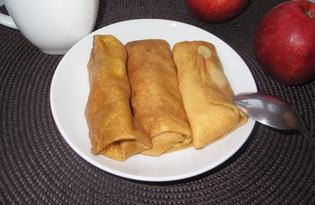 Блины с яблоками и корицей (пошаговый фото рецепт)
