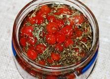 Ароматное масло с калиной для салатов (пошаговый фото рецепт)