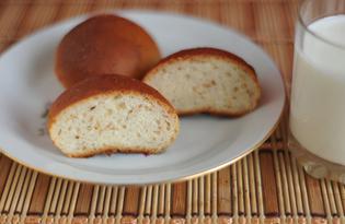Медово - кунжутные булочки из дрожжевого теста (пошаговый фото рецепт)