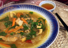 Азиатский суп с рисовой лапшой (пошаговый фото рецепт)
