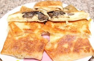 Блины с грибами и сыром (пошаговый фото рецепт)