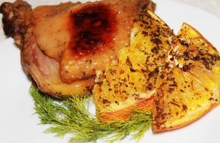 Утиные бедрышки с апельсинами (пошаговый фото рецепт)