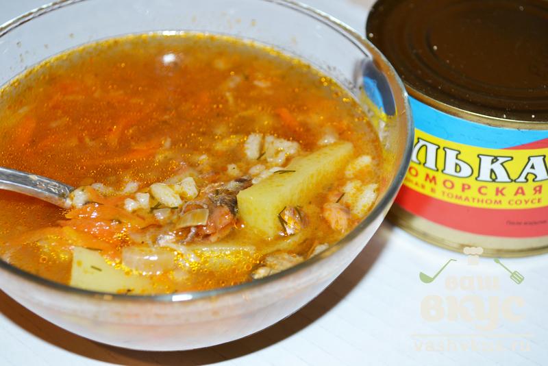 рецепт супа из консервированной кильки в томатном соусе