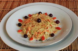 Салат из зеленой редьки и моркови «Домашний» (пошаговый фото рецепт)