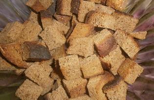 Сухарики по-домашнему в духовке (пошаговый фото рецепт)