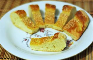 Дрожжевой пирог с кунжутом (пошаговый фото рецепт)