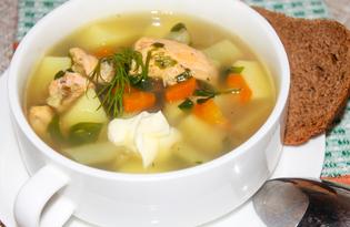Суп с красной рыбой и стручковой фасолью (пошаговый фото рецепт)