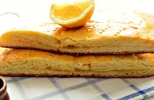 Дрожжевой пирог с лимонной начинкой (пошаговый фото рецепт)