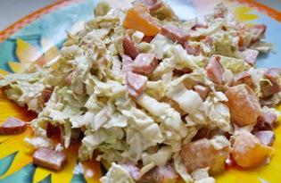 Салат из пекинской капусты и мандаринов (пошаговый фото рецепт)