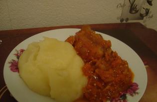 Свиные ребрышки в томатно - горчичном соусе (пошаговый фото рецепт)