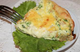 Пирог с плавленным сыром (пошаговый фото рецепт)
