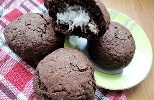Печенье с кокосовой начинкой (пошаговый фото рецепт)