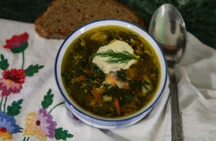 Зелёный суп с крапивой (пошаговый фото рецепт)