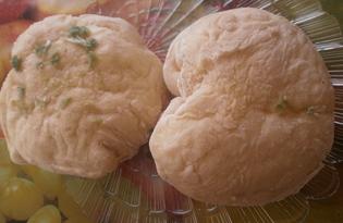 Булки дрожжевые с чесноком (пошаговый фото рецепт)