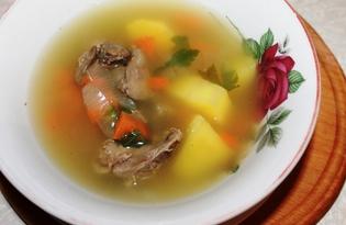 Быстрый суп с куриной печенью (пошаговый фото рецепт)