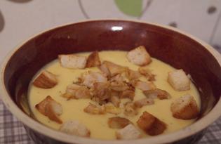 Сырный суп-пюре с курицей (пошаговый фото рецепт)
