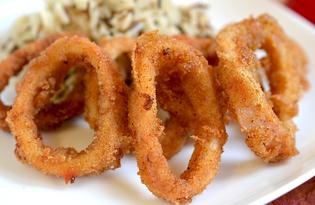 Кольца кальмара жареные в кляре (пошаговый фото рецепт)