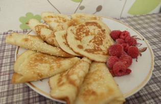 Блинчики десертные с кунжутом (пошаговый фото рецепт)