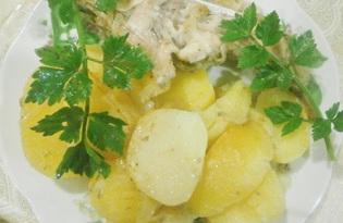 Кролик с картофелем в духовке (пошаговый фото рецепт)