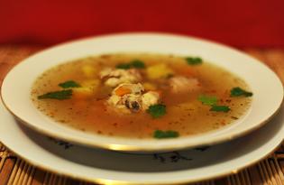 Суп с курицей и рыбой (пошаговый фото рецепт)