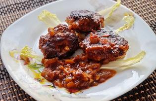 Тефтели в томатно - соевом соусе (пошаговый фото рецепт)