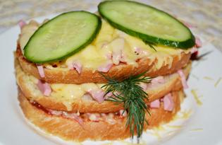 Горячий сэндвич в микроволновке (пошаговый фото рецепт)