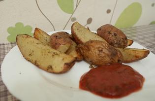 Картофель по-селянски в духовке (пошаговый фото рецепт)