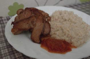 Вареная свинина обжаренная на сковороде (пошаговый фото рецепт)