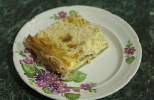 Киш с грибами и сыром (пошаговый фото рецепт)