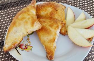 Слойки с карамелизированными яблоками (пошаговый фото рецепт)