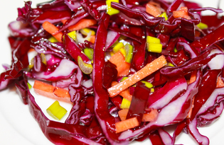 Салат из красной капусты и моркови (пошаговый фото рецепт)