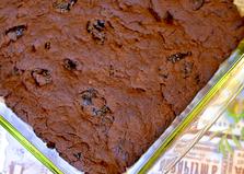 Шоколадный кекс без яиц (пошаговый фото рецепт)