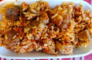 Рис со свининой (пошаговый фото рецепт)