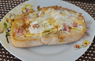 Бутерброд в духовке (пошаговый фото рецепт)