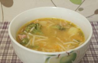 Суп с брокколи и спагетти (пошаговый фото рецепт)