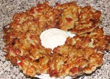 Драники с крабовым мясом (пошаговый фото рецепт)