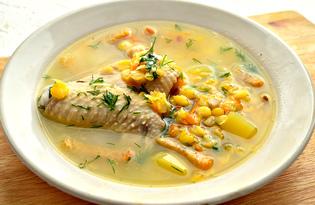 Гороховый суп с сухариками и жареными грибами (пошаговый фото рецепт)