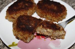Котлеты из консервированной сайры (пошаговый фото рецепт)