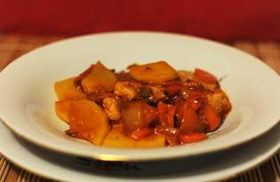 Курица с кунжутом и овощами в маринаде (пошаговый фото рецепт)