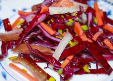 Салат с копченостями и капустой (пошаговый фото рецепт)