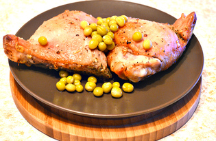 Куриные бедра, запеченные с чесноком и травами (пошаговый фото рецепт)