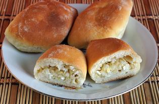Пирожки с начинкой из свежей и квашеной капусты с яйцами (пошаговый фото рецепт)