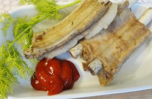 Свиные ребрышки тушеные с соевым соусом (пошаговый фото рецепт)