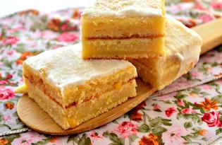 Лимонные пирожные с кокосовой стружкой (пошаговый фото рецепт)