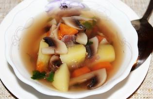 Грибной суп с петрушкой (пошаговый фото рецепт)