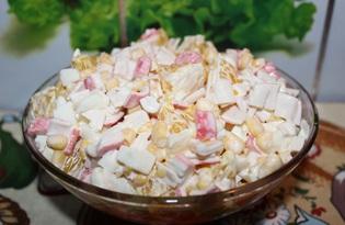 Крабовый салат с апельсином (пошаговый фото рецепт)